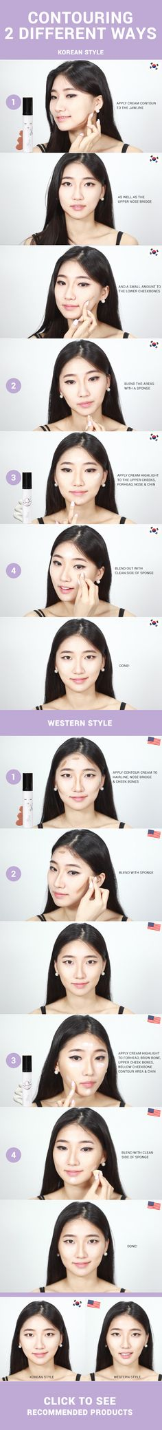 Most of us are familiar with Western style makeup contouring, but it doesn't…