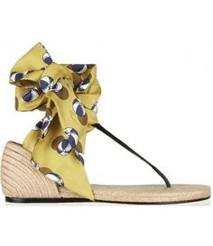 Printed satin espadrille sandals
