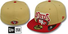 49ers PROFILIN Gold-Red Fitted Hat by New Era on hatland.com