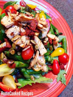 """I made this salad with #whole30 leftovers and it was so good, it's blog-worthy! """"Warm Chicken, Asparagus & Bacon Salad"""" - the recipe is #paleo and #glutenfree"""