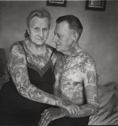Your tattoos will look so bad in 50 years. Yeah right. This couple fuckin rocks .