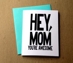 Geeky love card favorite dork nerdy anniversary gift geeky funny valentine card for mom birthday card funny mothers day gift hey mom youre awesome card for mum black and white greeting card bookmarktalkfo Images