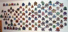 Megaman Wall - Perler bead sprites by vintersphrost