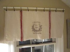 Grain Sack Inspired Window Valances