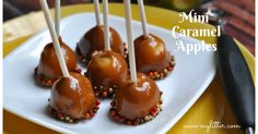 Awesome Mini Caramel Apples Recipe that is so easy you will love making these for friends and family. Perfect for the holiday's and for a Sunday dessert.