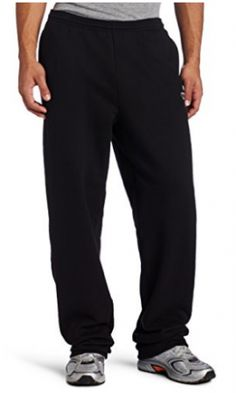 Champion Men's Open Bottom Eco Fleece Sweatpant, Black, XX-Large: Champion Eco Fleece Open Bottom Pant is made of a super soft recycled fiber-This fleece Pant is a winning combination Champion Brand, Mens Sweatpants, Mens Activewear, Fleece Pants, Athletic Pants, Black Media, Sport Outfits, Black Pants, Active Wear