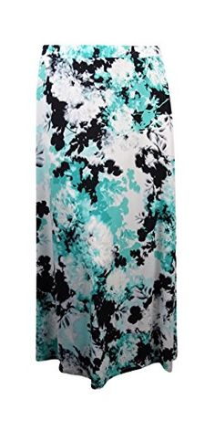 8441379c4d3 Kasper Womens PlusSize Blurred Floral Maxi Skirt Lucite Multi 1X -- Click  for Special Deals