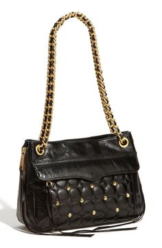 Rebecca Minkoff 'Swing' Double Zip Quilted Leather Shoulder Bag