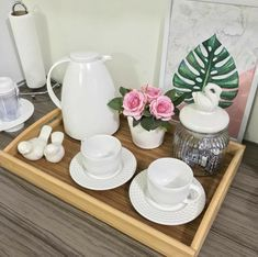 beauty in simplicity. Coffee Bar Home, Coffee Corner, Coffe Bar, Dark Walls Living Room, Esthetician Room, Arts And Crafts House, Vintage Cafe, Tray Decor, I Love Coffee