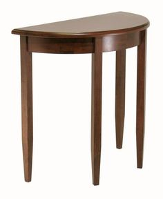 Beautiful walnut finish Half Moon Hall Table with tapered legs. available from Walmart Canada. Shop and save Furniture online for less at Walmart.ca