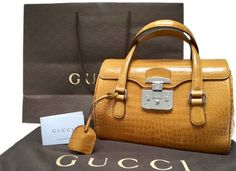 Catawiki online auction house: Gucci - Lady Lock in prestigiosa pelle di coccodrillo  Handbag