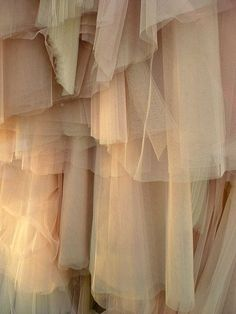 layers of fabric/tulle of monotone colors. Cream Aesthetic, Brown Aesthetic, Fabric Textures, Textures Patterns, Soft Fabrics, Sheer Fabrics, Kids Brand, Colour Board, Retro Vintage