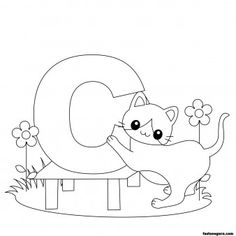 printable animal alphabet worksheets letter c for cat printable coloring pages for kids