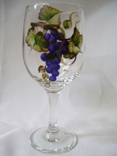 Hand Painted Wine Glasses | Hand painted wine glasses by brushinup on Etsy