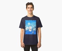 'Snowbaby on Sparkling Ice' Classic T-Shirt by We ~ Ivy Presents For Friends, Sparkling Ice, Graphic Shirts, Hoodies, Sweatshirts, Ivy, Snowman, Classic T Shirts, Shirt Designs