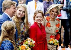 27 April 2019 - The Dutch Royal Family attends King's Day celebrations in Amersfoort - outfit by Natan