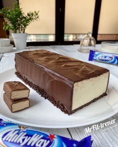 FIT MILKY WAY | Zdrowe Przepisy - Trener personalny McFit | Warszawa | Łukasz Gąsiński Candy Recipes, Sweet Recipes, Cookie Recipes, Dessert Recipes, Raw Cake, Good Food, Yummy Food, Healthy Sweets, Sweet Cakes