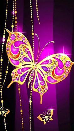 Whatsapp Wallpaper, Wallpaper Backgrounds, Phone Wallpapers, Diamond Glitter, Butterfly Wallpaper, Decoupage, Bling, Neon Signs, Symbols