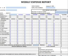 Weekly expense report template templates pinterest template business expense template wajeb Image collections