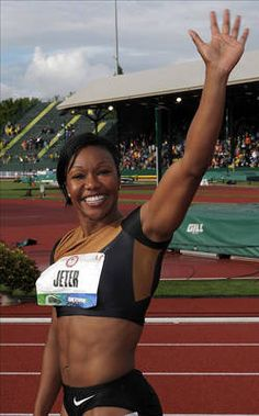Carmelita Jeter                                                                                                                                  Country: USSport: Track and FieldFun Fact: Jeter was profiled in Vogue in May of 2012 as part of a spread about Olympic athletes.