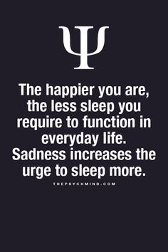 the happier you are ...