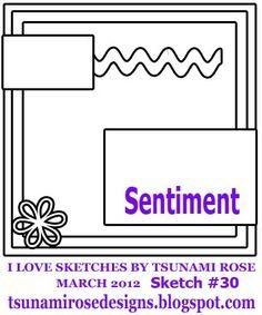 Mar 2012 #30 card sketch by #tsunamirose