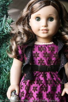 Add a Little Sparkle to Style a Holiday Outfit Doll Clothes Patterns, Doll Patterns, Girl Dolls, Ag Dolls, Girl Doll Clothes, Barbie Dolls, American Girl Doll Rebecca, American Dolls, Canadian Girls