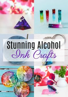 We're super excited today because we have got some fun new projects for you utilizing resin to its maximum potential. Have you ever played around with alcohol ink before? Today we're giving diy crafts Stunning Alcohol Ink Crafts Alcohol Ink Crafts, Alcohol Ink Glass, Alcohol Ink Painting, Diy Craft Projects, Diy Arts And Crafts, Diy Crafts To Sell, Fun Crafts, Amazing Crafts, Sell Diy