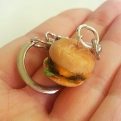 In and Out Inspired Cheeseburger Keychain by DreamlandMiniatures