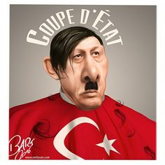 Bart van Leeuwen (2016-07-17) Turquie: Military Coup.  Turkey Coup d'état. Erdogan's new haircut. #TurkeyCoup #ErdoFake