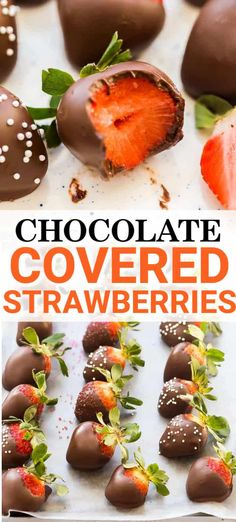 This 2 ingredient chocolate covered strawberry recipe is quick & easy! With the perfect melted chocolate & a variety of toppings it's sure to be a hit. Chocolate Drizzle, Best Chocolate, Dessert Chocolate, Homemade Chocolate, Chocolate Recipes, Sweet Desserts, Delicious Desserts, Dessert Recipes, Fruit Dessert