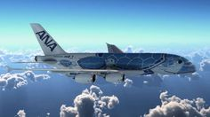 """Japanese airline ANA unveils its Airbus A380 """"sea turtle"""" livery [via Business Traveller – The leading magazine for frequent flyers]"""