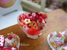 Assortment of Valentines Treats in Heart-shaped by ParisMiniatures