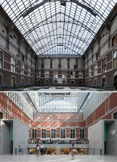 Rijksmuseum Revisited: The Dutch National Museum One Year On,Atrium: before and after. Image Courtesy of Cruz y Ortiz Arquitectos