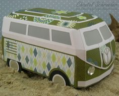 Chan's Crafty Things: Fond Childhood Memories: I had such a great time making this cute little VW Kombi box from the #SVGCuts Surf Shack kit!  Of course it can be made in any colour to look just like the one you remember growing up... Oh, how fun!