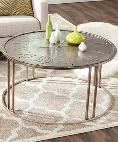 Loving this Hector Clock Cocktail Table on #zulily! #zulilyfinds - - Can be MAN CAVE table.