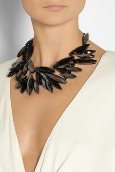 Gucci | Ruthenium-plated crystal necklace | NET-A-PORTER.COM