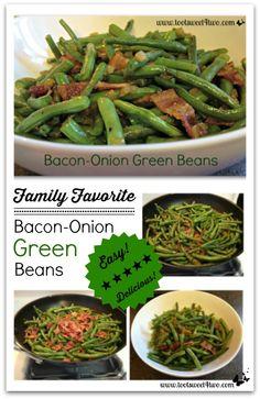 Bacon Onion Green Beans Pinterest
