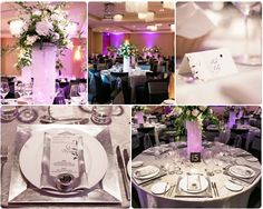 Sparkling Hill Wedding Okanagan Kelowna  #silver #purple #chandelier #centrepiece White Orchid Wedding Consulting  Photo credit: Adrian Phitography
