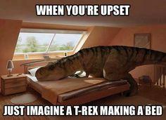 T-Rex Making a Bed