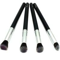 Royal Care Cosmetics Silver 4 Pieces Face Synthetic Brush Set