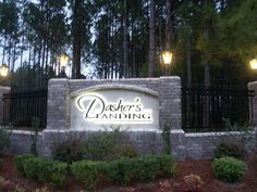 Entrance to Community; Dasher's Landing