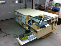 table saw drop in workbench | Rolling Workbench; Systainer-Port; Tablesaw and Router
