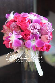 Lavender orchid bouquet www.addyflorales.com