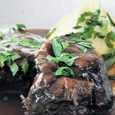 Beef braised in red wine