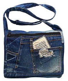 BDJ Upcycling Blue Denim Jean Flap Over Messenger Crossbody Shoulder Handbag Model DMB076 Bijoux De Ja http://www.amazon.com/dp/B00LY6BLBG/ref=cm_sw_r_pi_dp_1Woewb01Q805R