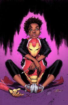 Riri Willians Iron Man (ironheart) by Marvel E Dc, Marvel Comic Universe, Marvel Cinematic Universe, Marvel Comics, Black Girl Art, Black Women Art, Iron Heart Marvel, Secret Warriors, Drawing Superheroes