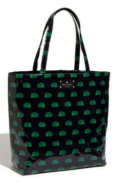 kate spade new york 'daycation hedgehog' coated canvas bon shopper