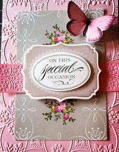 Anna Griffin Embossed Cards | Made using Anna Griffin Floral Impressions Card Kit and here embossing ...