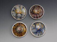 linda darty enamel | ... Universe of Handcrafted Art to Wear: Enamel Flowers by Linda Darty
